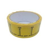 ID Tape inchON-OFFinch Black/Yellow 38mm x 33m