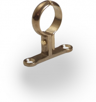 Cast Pipe Clip School Board Brass