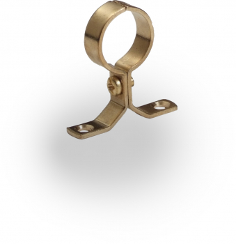 Pressed Pipe Clips Brass