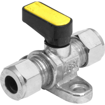 Angled Mini Ball Valves c/w Wall Plate Compression