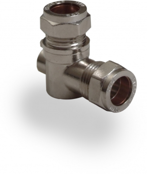 Chrome Isolating Valve Angled