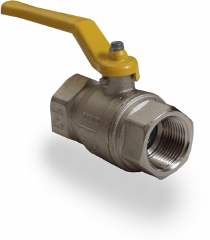 Yellow Lever Ball Valves FxF