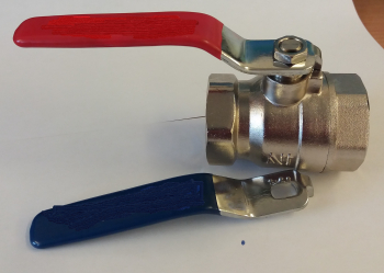 Red & Blue Lever Ball Valve F x F