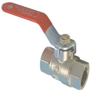 Red Lever Ball Valve F x F WRAS Approved